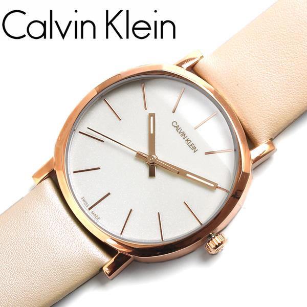 カルバンクライン 腕時計 レディース 革ベルト レザー ブランド シンプル レザー ウォッチ ポッシュ POSH 3気圧防水 k8q336x2 Calvin Klein