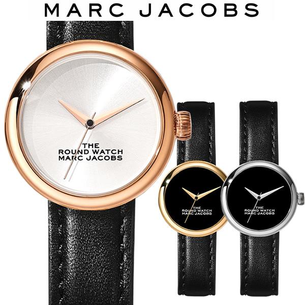 【送料無料】マークジェイコブス MARC JACOBS THE ROUND WATCH ラウンドウォッチ レディース 腕時計 ブラック シルバー MJ0120179281 MJ0120179282 MJ0120179283