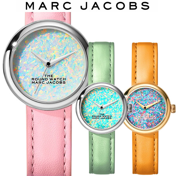 【送料無料】マークジェイコブス MARC JACOBS THE ROUND WATCH ラウンドウォッチ レディース 腕時計 オレンジ グリーン ピンク MJ0120179284 MJ0120179285 MJ0120179286