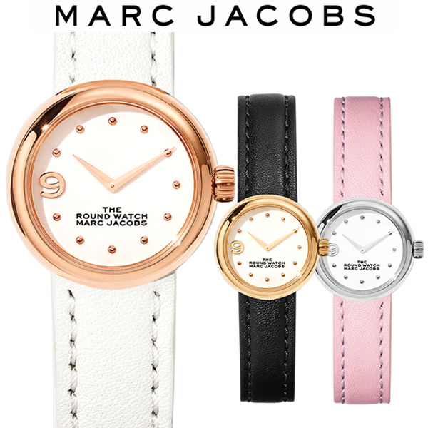 【送料無料】MARC JACOBS マークジェイコブス The Round Watch 28mm ラウンドウォッチ 腕時計 レディース 女性 ブランド MJ0120184720 MJ0120184721 MJ0120184722
