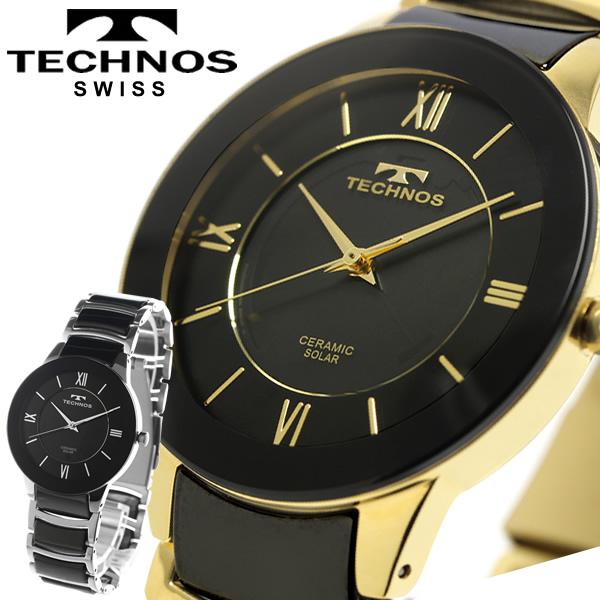【送料無料】TECHNOS テクノス セラミック ソーラー メンズ 腕時計 日常生活防水 ウォッチ スイス T9A49TB T9A49GB