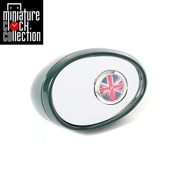 ミニチュア クロック 置時計 おしゃれ 小さい アナログ 卓上インテリア デザイン かわいい 雑貨 C3215-DGR 父の日 ギフト