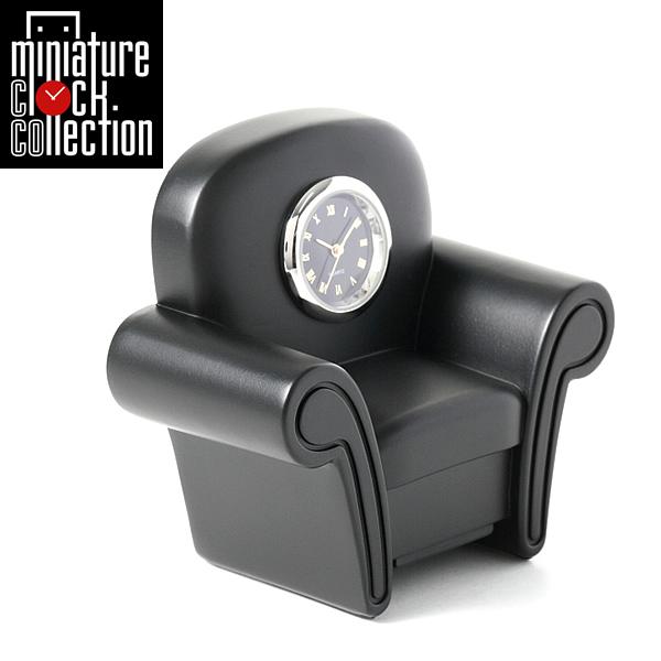 ミニチュア クロック 置時計 おしゃれ 小さい アナログ 卓上インテリア デザイン かわいい 雑貨 C3218-BK 父の日 ギフト