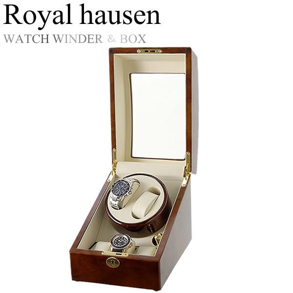 Royal hausen ロイヤルハウゼン 時計ワインダー 自動巻き ワインディングマシーン マブチモーター 収納 コレクション ケース MDF 2本巻き 3本収納 GC03-S31
