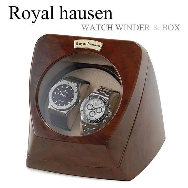 【送料無料】Royal hausen ロイヤルハウゼン 2本巻 時計ワインダー 自動巻き ワインディングマシーン マブチモーター 収納 コレクション ケース rh003