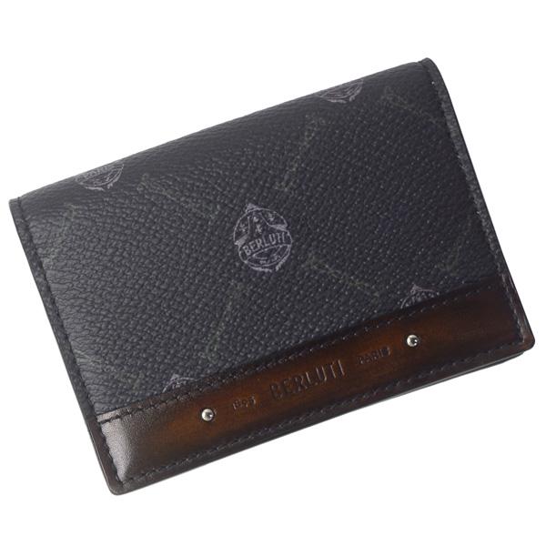 ベルルッティ カードケース カードホルダー メンズ 訳あり 価格交渉OK送料無料 名刺入れ BERLUTI インブイア レザー キャンバス 207371 新品