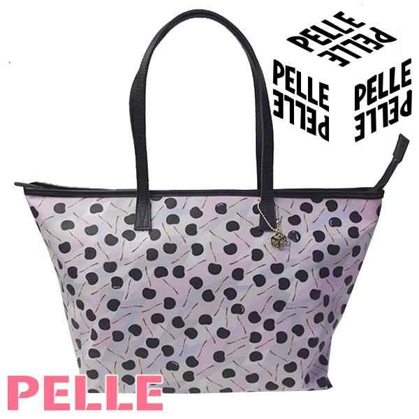ペレ PELLE バッグ レディース トートバッグ Lトート ショルダーバッグ Cube キューブ ブラックチェリー 1100