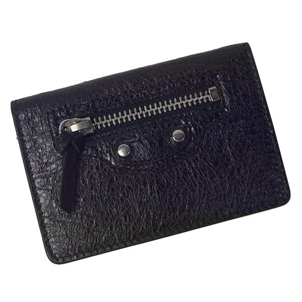 バレンシアガ BALENCIAGA 三つ折り財布 477455 D940N 1000 ブラック レディース メンズ NOIR CLASSIC MINI ミニ財布