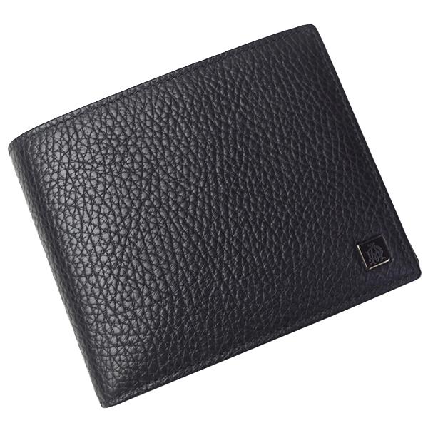 ダンヒル ヨーク 二つ折り 折財布 メンズ L2L732 ブラック