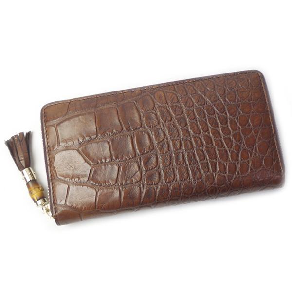 グッチ 財布 GUCCI 307984 EIJ2G 2208 ブラウン バンブー タッセル