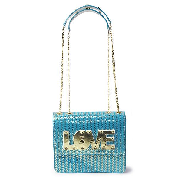 【特価】 パトリツィアペペ PATRIZIA PEPE チェーンショルダー 2V8015 ブルー レディース ショルダーバッグ ハンドバッグ Glam Azure Love