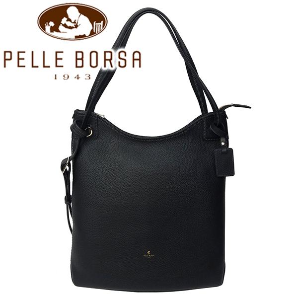 ペレボルサ バッグ レディース PELLE BORSA レネット 4705-BL ブラック