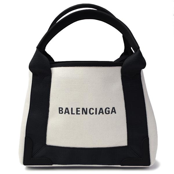 バレンシアガ BALENCIAGA ネイビーカバ XS 390346 AQ38N 1081 BLACK/NATUREL レディース 2WAY キャンバストート ショルダーバッグ ポーチ付き