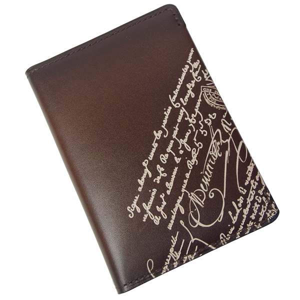 ベルルッティ 名刺入れ メンズ Ideal Engraved 173392 ブラウン/アイボリー