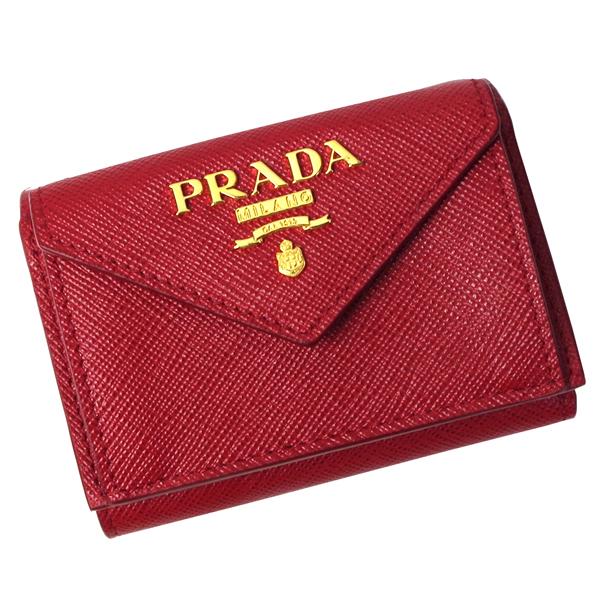 プラダ 財布 レディース 1MH021 SAFFIANO METAL FUOCO レッド