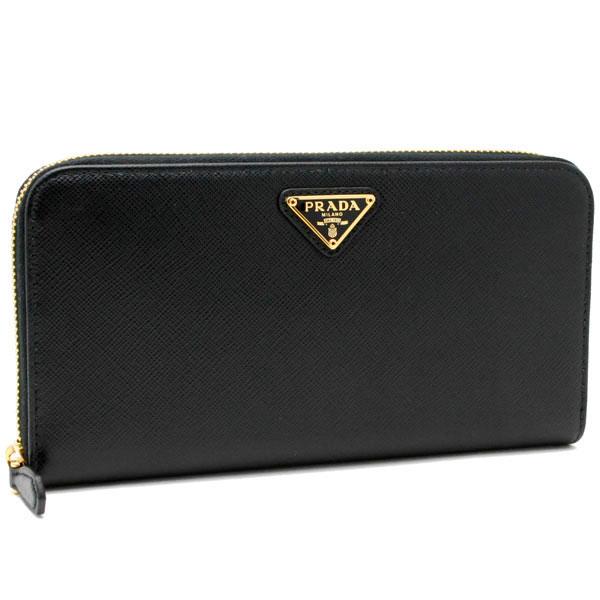 プラダ 財布 レディース SAFFIANO TRIANG 1ML506 QHH F0002 NERO ブラック