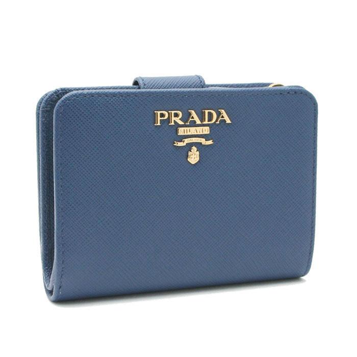 プラダ 財布 レディース SAFFIANO METAL 1ML018 QWA F0016 BLUETTE ブルー