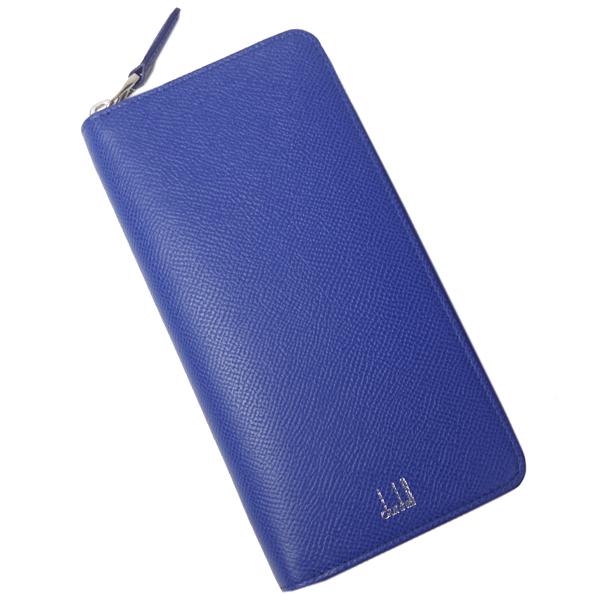 ダンヒル 本革 長財布 メンズ 縦型 カドガン F2180CA431R ブルー