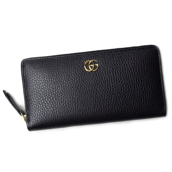 グッチ 財布 レディース GUCCI プチマーモント 456117 CA00G 1000 ブラック