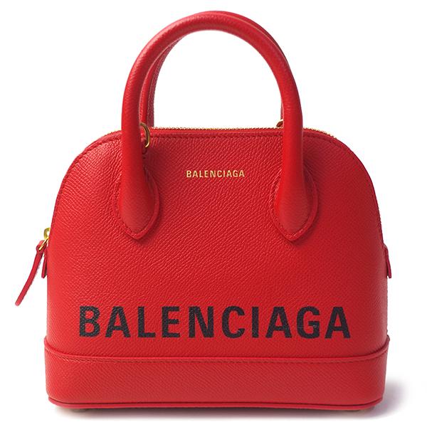 バレンシアガ BALENCIAGA ビルトップハンドル XS 525050 0OT0M 6513 レッド レディース 2WAY ハンドバッグ ショルダーバッグ