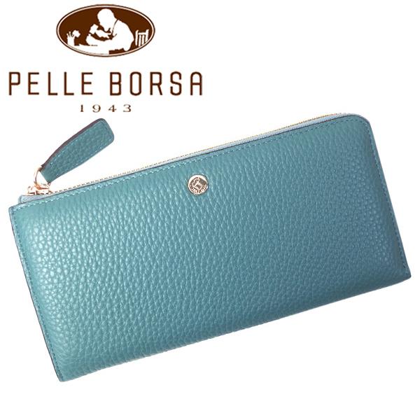 ペレボルサ 財布 レディース PELLE BORSA マーノ 4721-BG ブルーグレー