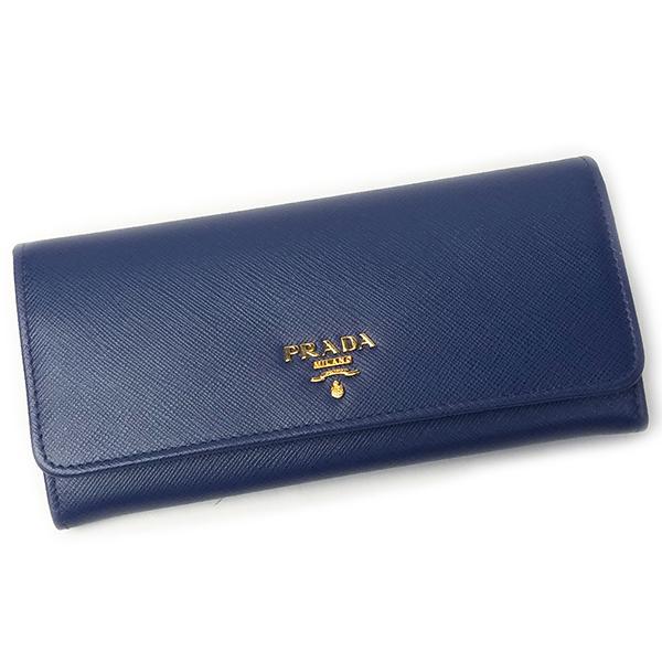 プラダ 財布 PRADA 1MH132 SAFFIANO METAL BLUETTE ブルー
