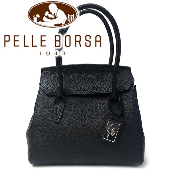 ペレボルサ PELLE BORSA ハンドバッグ レディース 2WAY ショルダーバッグ レネット REINETTE BL ブラック 4711