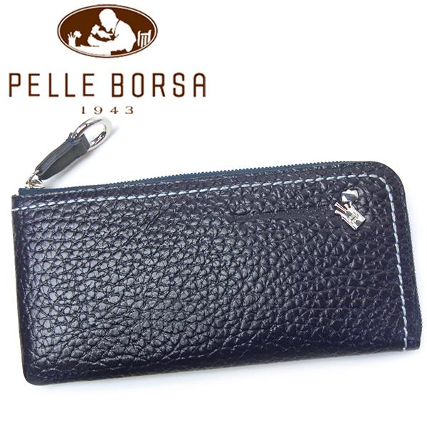 ペレボルサ 財布 レディース PELLE BORSA プラント 3401-NV ネイビー