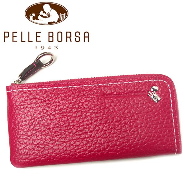 ペレボルサ 財布 レディース PELLE BORSA プラント 3401-PI ピンク