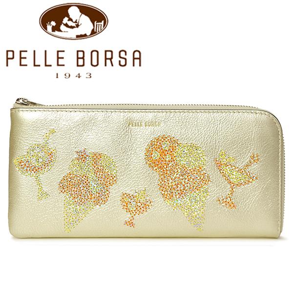 ペレボルサ 財布 レディース PELLE BORSA ライズ 5160-CG シャンパンゴールド