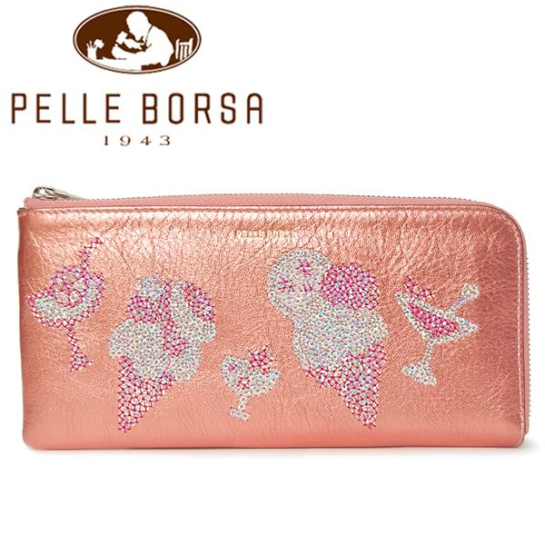 ペレボルサ 財布 レディース PELLE BORSA ライズ 5160-CP コーラルピンク