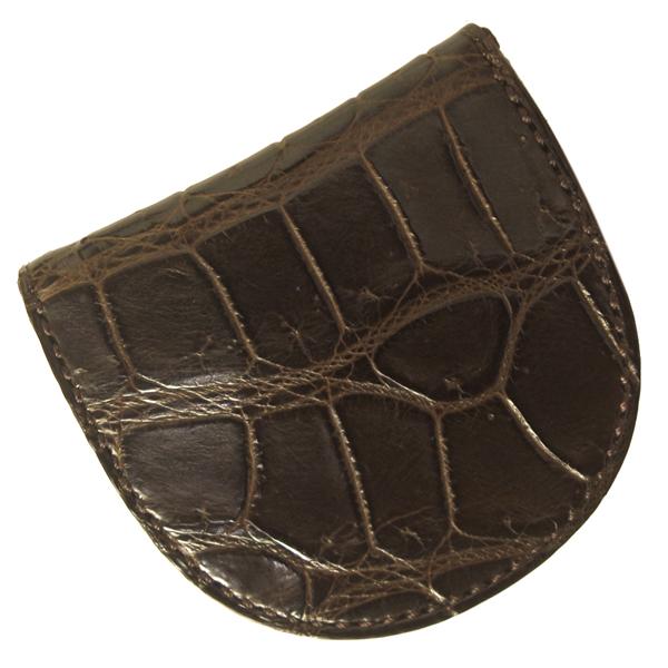 コインケース メンズ クロコダイル 小銭入れ 高級皮革 MW9944M CH チョコ