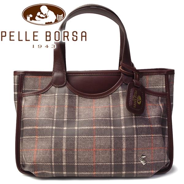 ペレボルサ バッグ レディース PELLE BORSA エバーグリーンB 1834-CH ブラウン系