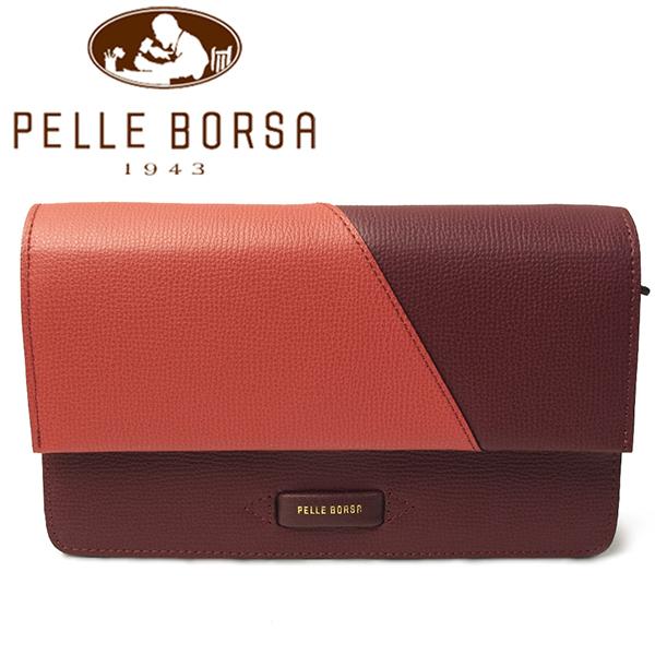 ペレボルサ バッグ PELLE BORSA DEMI ドゥミ 4612-ORBR オレンジ×ブラウン レディース お財布ショルダー クラッチ
