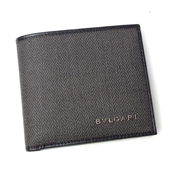 ブルガリ 財布 メンズ BVLGARI ウィークエンド 32581 グレー/ブラック
