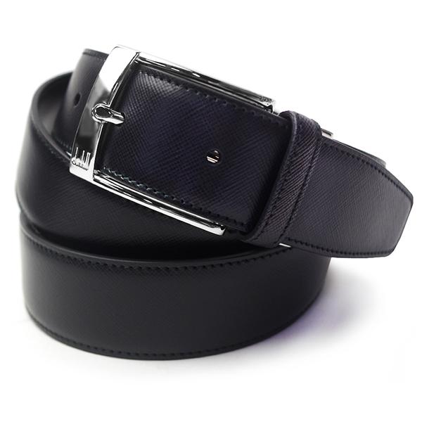 ダンヒル ベルト メンズ HPB122 ブラック セルフカット可能