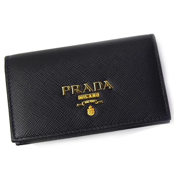 プラダ PRADA 名刺入れ 1MC122 SAFFIANO METAL ブラック NERO カードケース レディース