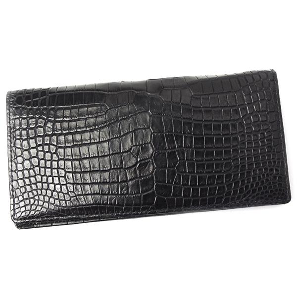 クロコダイル 財布 メンズ レディース 無双 札入れ CROAP-4 ブラック