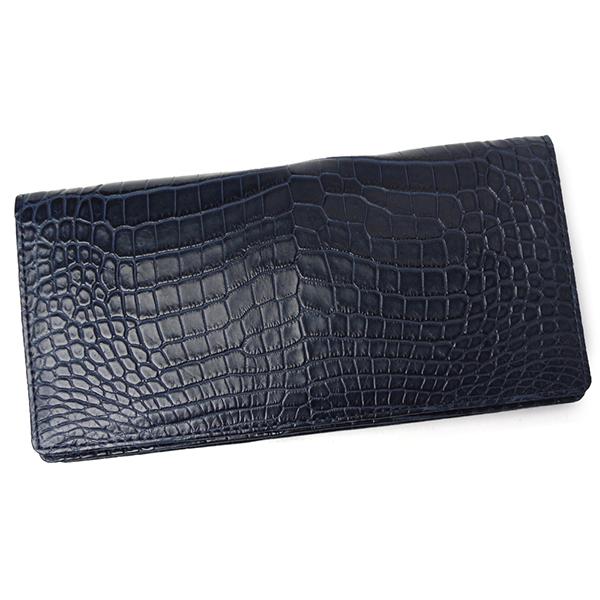 クロコダイル 財布 メンズ レディース 無双 札入れ CROAP-4 ネイビー