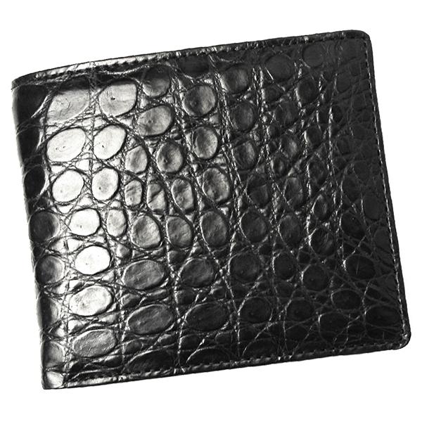 クロコダイル 財布 メンズ レディース 札入れ 無双仕立て CROAP-9/N ブラック