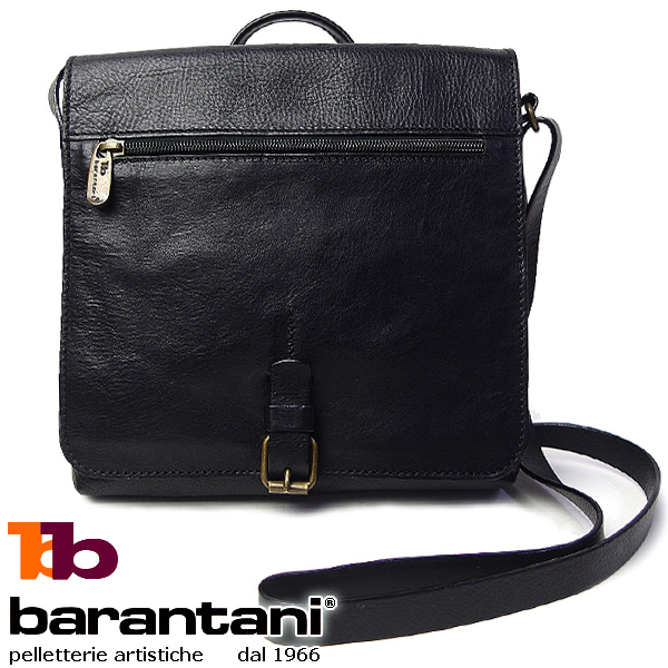 バランターニ barantani ショルダーバッグ 24094 ブラック 長さ調節可能 クロスボディーバッグ イタリア製