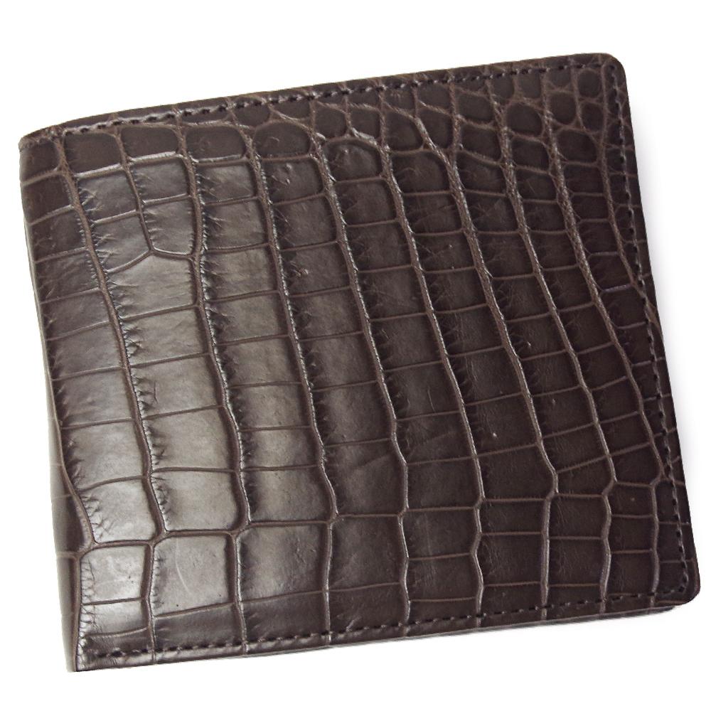 クロコダイル 財布 メンズ レディース 無双仕立て CROAP-6/N チョコ