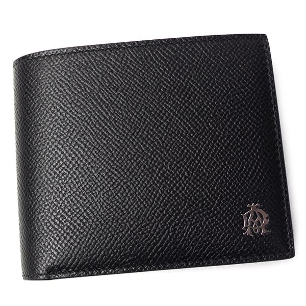 ダンヒル 本革 折財布 メンズ カドガン 二つ折り L2AC32A ブラック