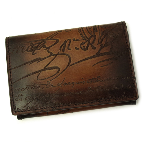 人気 ベルルッティ カードケース IMBUIA メンズ 名刺入れ BERLUTI 新品 インブイア ブラウン 135251 TOBACCO 購入
