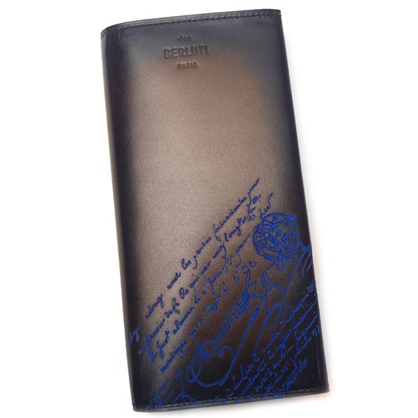 ベルルッティ 財布 メンズ BERLUTI エスパス エン レザー 196470 BURNT BLUE