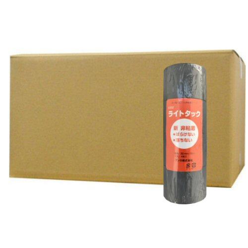 デンカ No.202 ライトタック グレー [ 0.15mm×50mm×18m×4巻]×20個 非粘着 エアコン配管 給湯管 保護 テープ