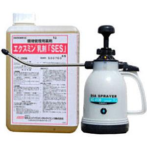 【お買い得セット+プレゼント付き】ゴキブリ駆除 水性エクスミン乳剤「SES] 1L ダイヤスプレーNO.4130セット 【送料無料】