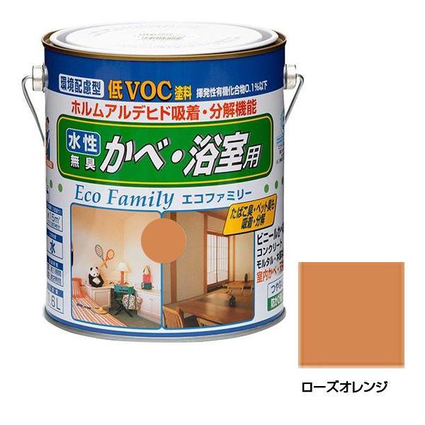 ニッペホームペイント 水性エコファミリー 13 ローズオレンジ 1.6L【代引き不可】【C】