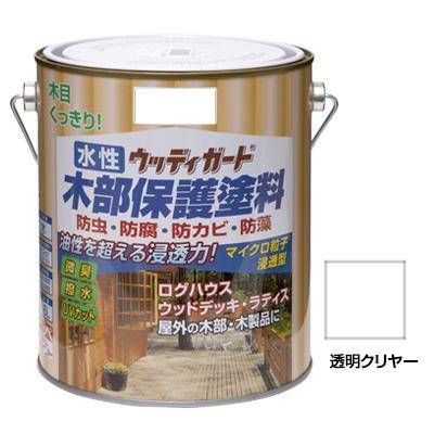 ニッペホームペイント 水性ウッディガード 13 透明クリヤー 1.6L【代引き不可】【C】