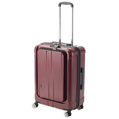 協和 ACTUS(アクタス) スーツケース フロントオープン ポライト Lサイズ ACT-005 レッドヘアライン・74-20353【C】